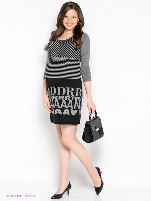 Платье EUROMAMA. Цвет: серый, черный