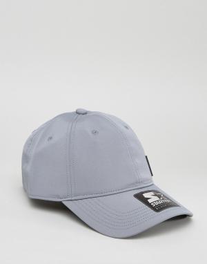 Starter Бейсболка с черным логотипом Pitcher. Цвет: серый