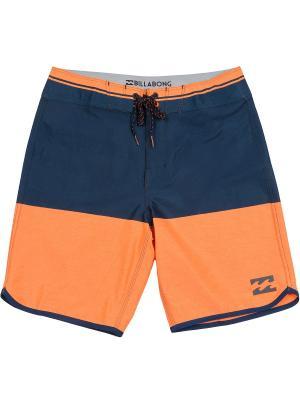 Бордшорты FIFTY50 X 19 (SS17) BILLABONG. Цвет: темно-синий, оранжевый
