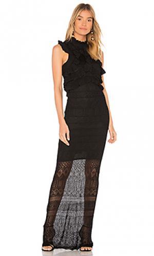 Макси платье bethanny Ronny Kobo. Цвет: черный