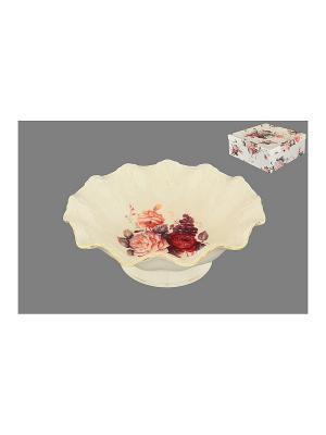 Конфетница Бархатный нектар Elan Gallery. Цвет: бежевый, красный, розовый