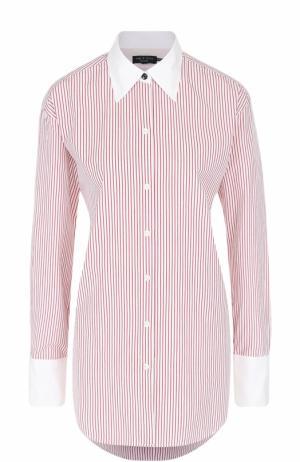 Блуза свободного кроя в контрастную полоску Rag&Bone. Цвет: красный