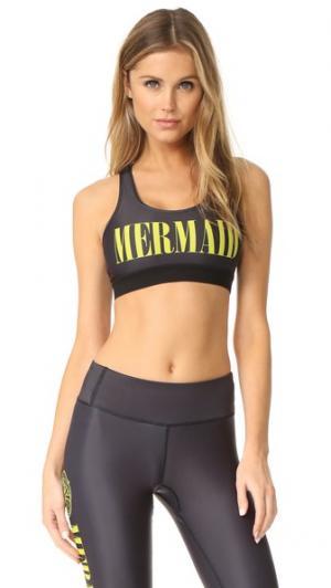 Спортивный бюстгальтер Mermaid CHRLDR. Цвет: голубой
