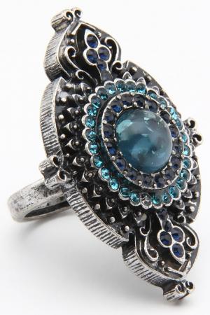 Кольцо Patricia Bruni. Цвет: голубой