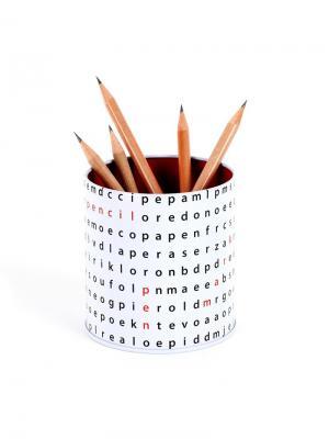 Настольный пенал Letter Soup Balvi. Цвет: черный, белый, красный