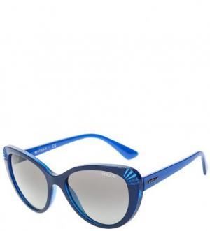 Синие очки с пластиковой оправой VOGUE. Цвет: синий