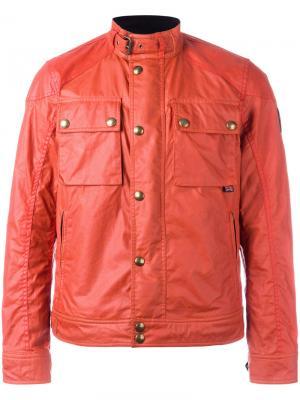 Куртка бомбер с нагрудными карманами Belstaff. Цвет: жёлтый и оранжевый