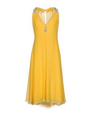 Платье длиной 3/4 CAILAN'D. Цвет: желтый