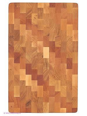 Доска разделочная Диагональ CUBO. Цвет: светло-коричневый, темно-бежевый