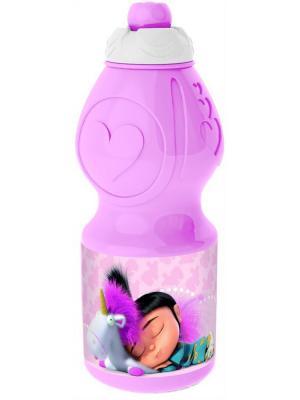 Бутылка пластиковая (спортивная, фигурная, 400 мл). Флуффи Stor. Цвет: фиолетовый