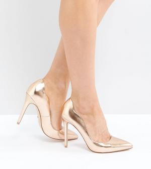 Faith Золотисто-розовые туфли-лодочки. Цвет: золотой