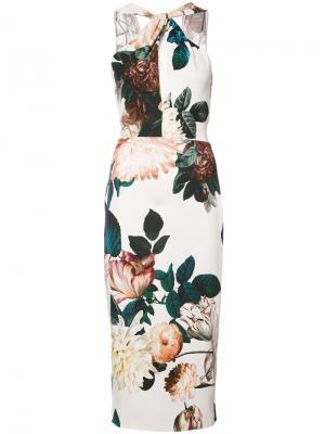 Платье с цветочным принтом Ramani Sachin & Babi. Цвет: белый