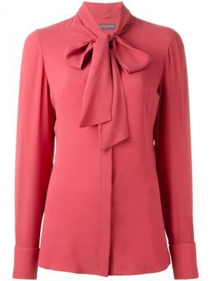 Блузка с бантом Alexander McQueen. Цвет: розовый и фиолетовый