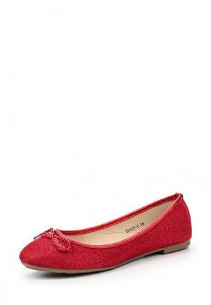 Балетки Bellamica. Цвет: красный