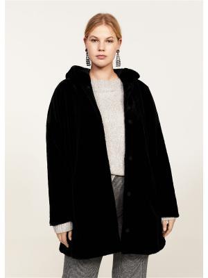 Пальто - OSO Violeta by Mango. Цвет: черный