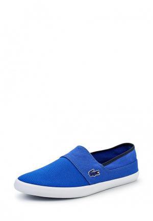 Слипоны Lacoste. Цвет: синий