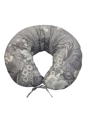 Подушка для беременных и кормящих Здоровье комфорт. Цвет: серый, белый