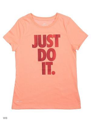 Футболка G NK DRY TEE DF TEMPEST JDI Nike. Цвет: светло-оранжевый