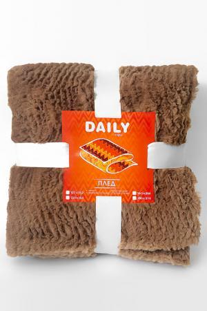 Плед шоколад, 127х152 Daily by T. Цвет: коричневый