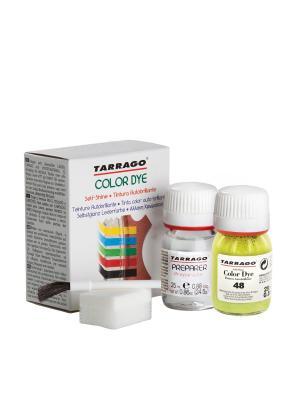 Краситель+очиститель  для гладкой кожи TDC05 COLOR DYE, стекло, 2 х 25мл. (048 зеленая ива) Tarrago. Цвет: салатовый