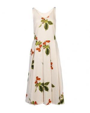 Платье длиной 3/4 NOSTRASANTISSIMA. Цвет: слоновая кость
