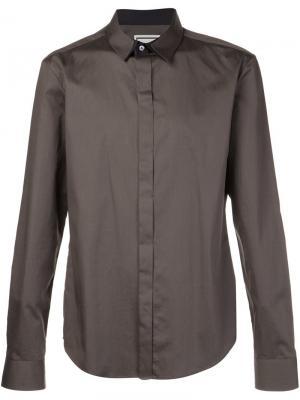 Классическая рубашка Wooyoungmi. Цвет: зелёный