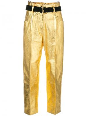 Cropped metallic trousers Petar Petrov. Цвет: none