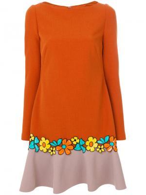 Платье Nowness Talbot Runhof. Цвет: жёлтый и оранжевый