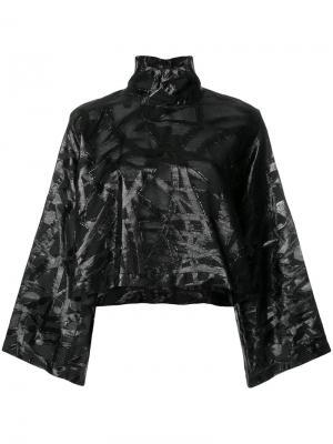 Укороченная блузка с рукавами-кимоно Federica Tosi. Цвет: чёрный