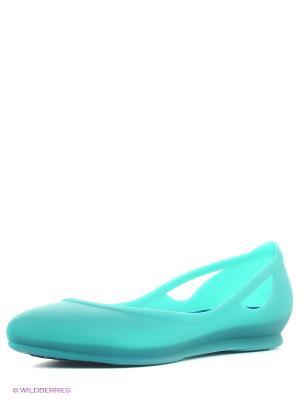 Балетки Crocs Rio FlatW. Цвет: зеленый