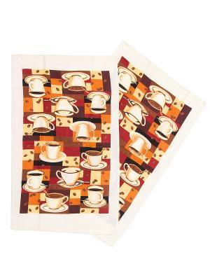 Комплект полотенец ZLATA KORUNKA. Цвет: коричневый