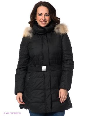Пальто WEGA. Цвет: черный