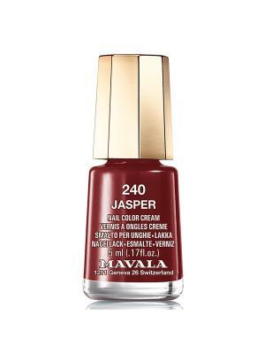 Лак для ногтей тон 240 Jasper Mavala. Цвет: темно-бордовый