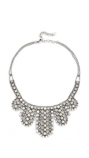 Колье Duchess DANNIJO. Цвет: прозрачный/окисленный серебряный