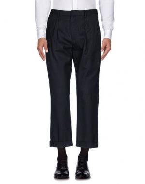 Повседневные брюки GAZZARRINI. Цвет: стальной серый