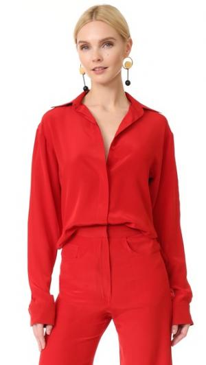Блуза с открытыми плечами Juan Carlos Obando. Цвет: красный