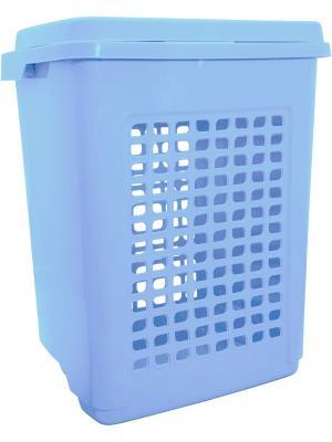 Корзина для белья 65 л голубой пастельный Branq.. Цвет: голубой