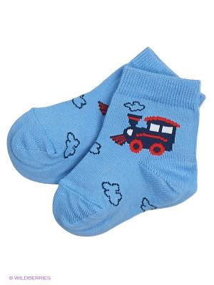 Носки Skinija. Цвет: голубой