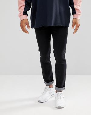 Dead Vintage Черные зауженные джинсы. Цвет: черный