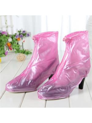 Дождевики для обуви с каблуком розовые, размер L Homsu. Цвет: розовый