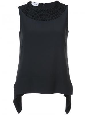 Блузка с вышивкой Akris Punto. Цвет: чёрный