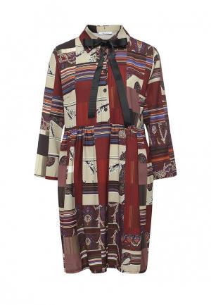 Платье Aurora Firenze. Цвет: коричневый