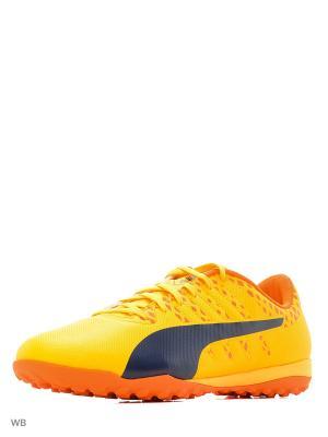Бутсы evoPOWER Vigor 4 TT Puma. Цвет: оранжевый, желтый