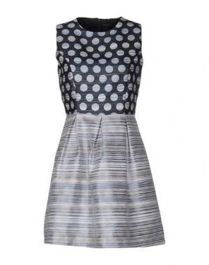 Короткое платье ANONYME DESIGNERS. Цвет: грифельно-синий