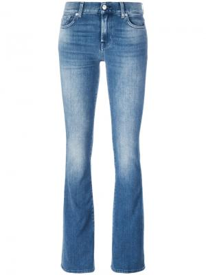 Bootcut jeans 7 For All Mankind. Цвет: синий