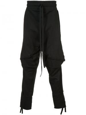 Драпированные брюки Barbara I Gongini. Цвет: чёрный