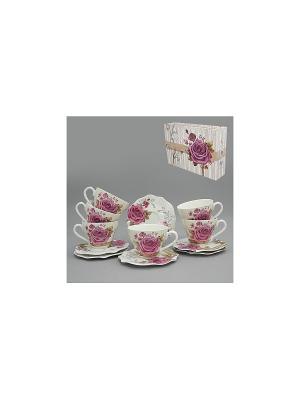Набор чайный 12 пр. РОЗАН 220 мл BRISWILD. Цвет: белый