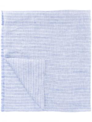 Шарф в полоску Corneliani. Цвет: синий
