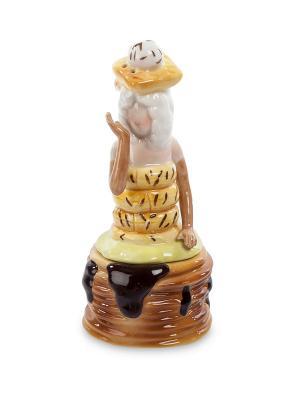 Подставка для яйца с солонкой Леди (Pavone) Pavone. Цвет: бежевый, белый, желтый