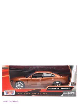 Машинка коллекционная 2011 Dodge Charger R.T в масштабе 1к24 Motormax. Цвет: коричневый